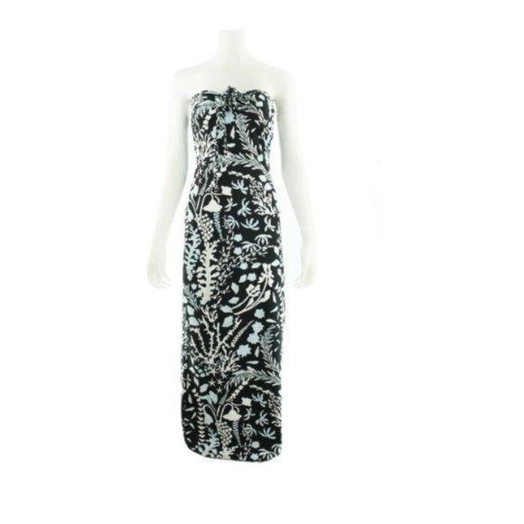 J MCLAUGHLIN Black Dress with White/Blue Dress